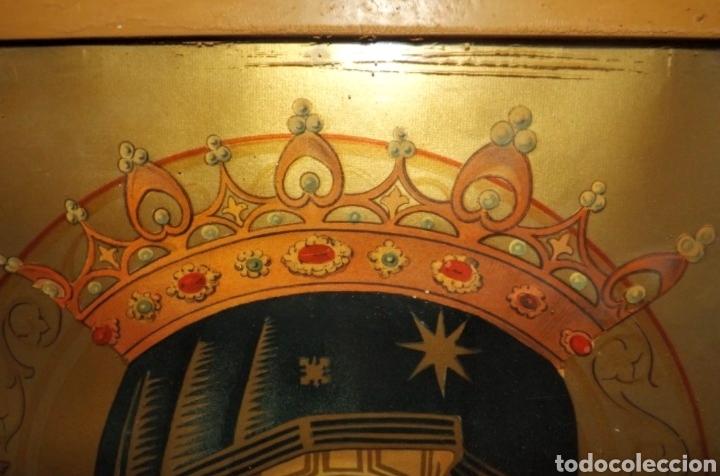Arte: Extraordinaria Antigua Virgen del Perpetuo Socorro posiblemente de oratorio religioso. Gran tamaño - Foto 43 - 181977037