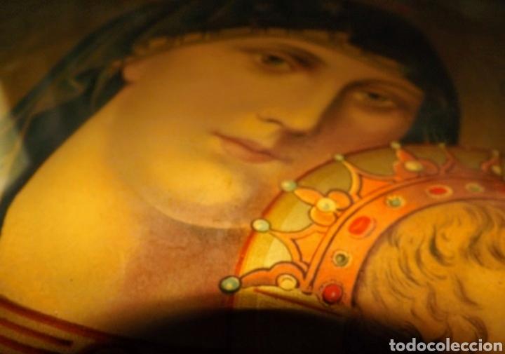 Arte: Extraordinaria Antigua Virgen del Perpetuo Socorro posiblemente de oratorio religioso. Gran tamaño - Foto 44 - 181977037