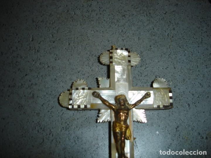 Arte: Preciosa cruz relicario de las llamadas de Jerusalem siglo XVII o XVIII - Foto 2 - 181983245