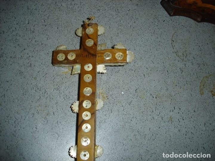 Arte: Preciosa cruz relicario de las llamadas de Jerusalem siglo XVII o XVIII - Foto 4 - 181983245