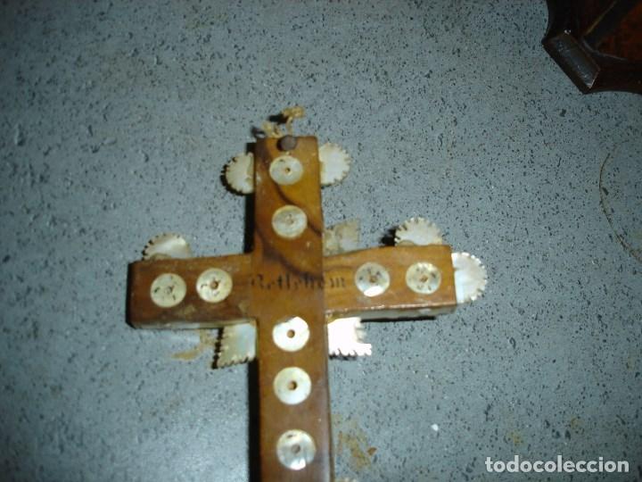 Arte: Preciosa cruz relicario de las llamadas de Jerusalem siglo XVII o XVIII - Foto 6 - 181983245