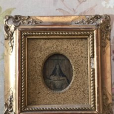 Arte: VIRGEN DE LA ANGUSTIAS GRANADA, MINIATURA SOBRE COBRE. Lote 182041992
