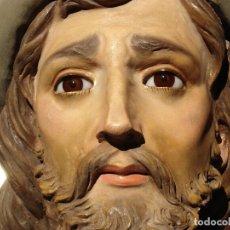 Arte: SANTIAGO PATRON DE ESPAÑA IMAGEN PROCESIONAL DE ESTATUARIA CON CUÑO 1M59CM. Lote 175213289