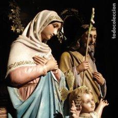 Arte: GRUPO ESCULTÓRICO DE ALTAR SAGRADA FAMILIA. Lote 182142661