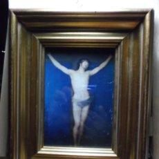 Arte: POSTAL ENMARCADA ANTIGUA DE CRISTO - GOYA.. Lote 182219618
