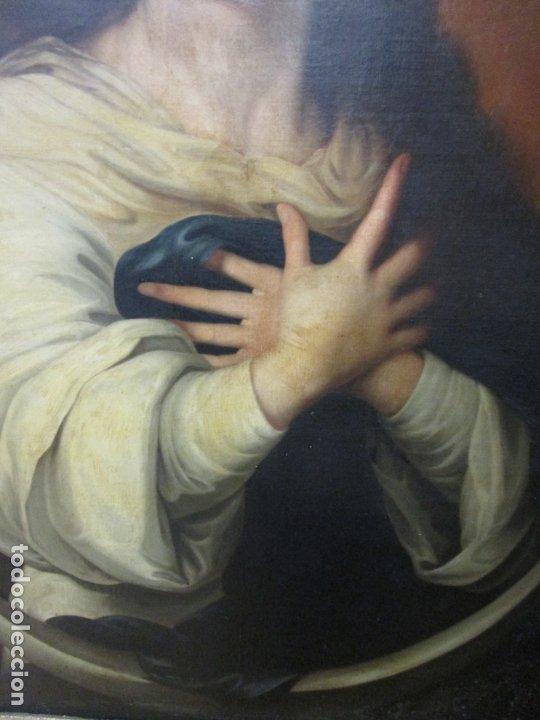 Arte: Inmaculada Concepción - Óleo sobre Tela - Circulo Bartolomé Esteban Murillo - Marco Barroco Original - Foto 5 - 182220098