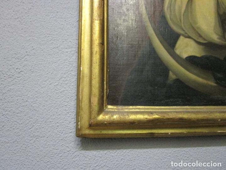 Arte: Inmaculada Concepción - Óleo sobre Tela - Circulo Bartolomé Esteban Murillo - Marco Barroco Original - Foto 16 - 182220098