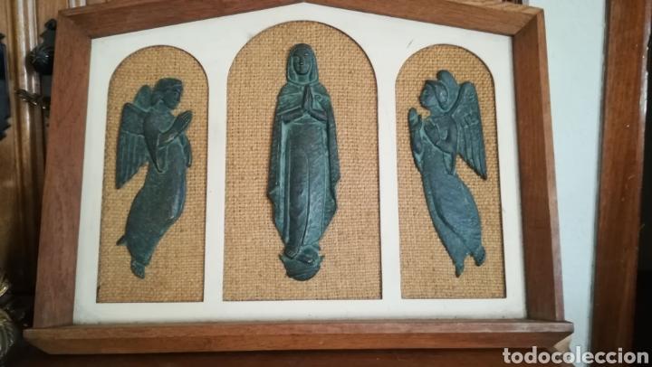 ANTIGUO CUADRO RELIGIOSO (Arte - Arte Religioso - Trípticos)