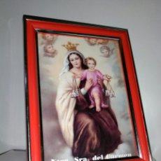 Arte: VIRGEN DEL CARMEN. CUADRO PEQUEÑO.. Lote 182302693