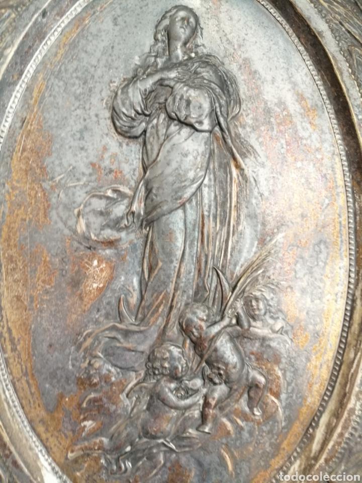 Arte: Antiguo Bajorelieve Virgen Asunción. - Foto 2 - 182324676