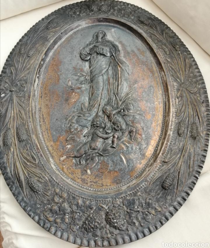 Arte: Antiguo Bajorelieve Virgen Asunción. - Foto 5 - 182324676