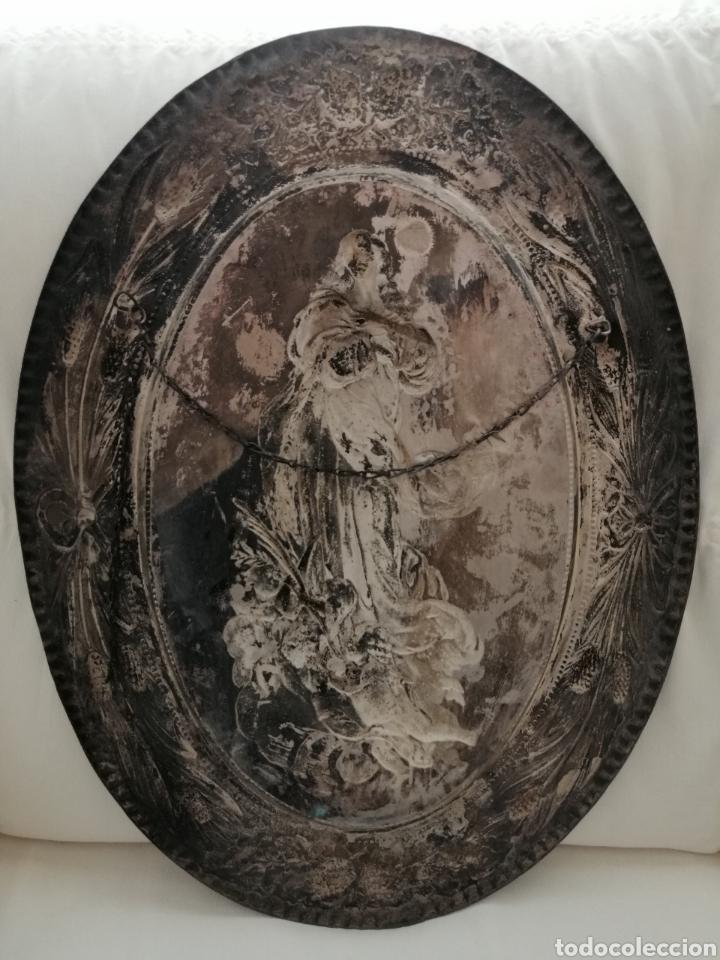 Arte: Antiguo Bajorelieve Virgen Asunción. - Foto 8 - 182324676