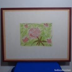 Arte: LITOGRAFÍA ILEGIBLE.TIRADA 40/99.BIEN ENMARCADA.. Lote 182329446