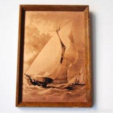 Arte: GRABADO VINTAGE ETCHMASTER ORIGINAL COBRE - THE SAPPHO. Lote 182344242