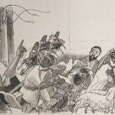 Arte: JESÚS Y LOS VENDEDORES EN EL TEMPLO, MONNERAT, FIRMADO Y REPRODUCIDO. Lote 182358408