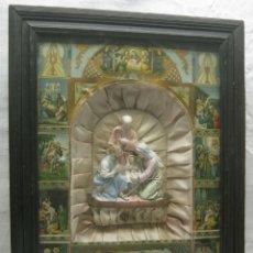Arte: 60CM HORNACINA VITRINA DE COLGAR VIDA DE SAN JOSÉ CAPILLA RELIGIOSA. Lote 182361962