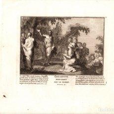 Art: GRABADO RELIGIOSO S. JUAN BAUTISTA PREDICANDO EN EL DESIERTO. SIGLO XVIII. Lote 182380900
