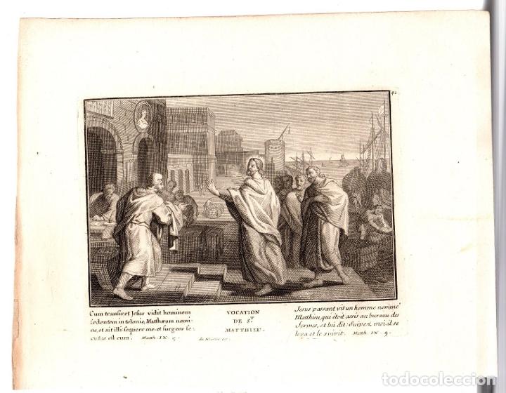 GRABADO RELIGIOSO VOCACION DE S. MATEO. SIGLO XVIII (Arte - Arte Religioso - Grabados)