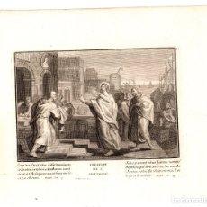 Arte: GRABADO RELIGIOSO VOCACION DE S. MATEO. SIGLO XVIII. Lote 182381100