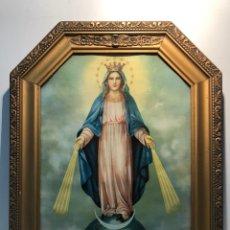 Arte: CROMOLITOGRAFIA DE LA VIRGEN MILAGROSA ANTIGUA.. Lote 182497366