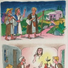 Arte: DISCÍPULOS DE EMAÚS , PIERRE MONNERAT (SUIZA 1917-BCN 2006).. Lote 182507638
