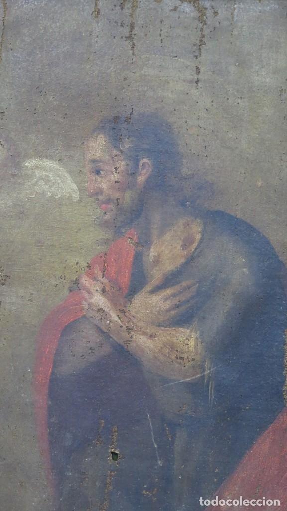 Arte: JESUS ORA EN EL HUERTO DE GETSEMANI. OLEO S/ LIENZO. SIGLO XVII - Foto 2 - 182535392