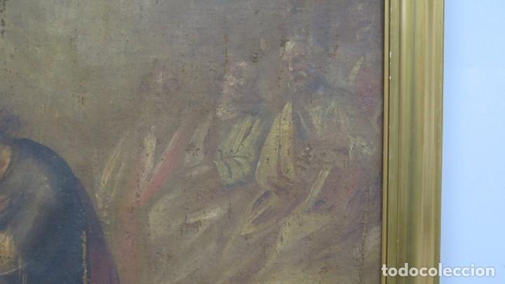 Arte: JESUS ORA EN EL HUERTO DE GETSEMANI. OLEO S/ LIENZO. SIGLO XVII - Foto 3 - 182535392