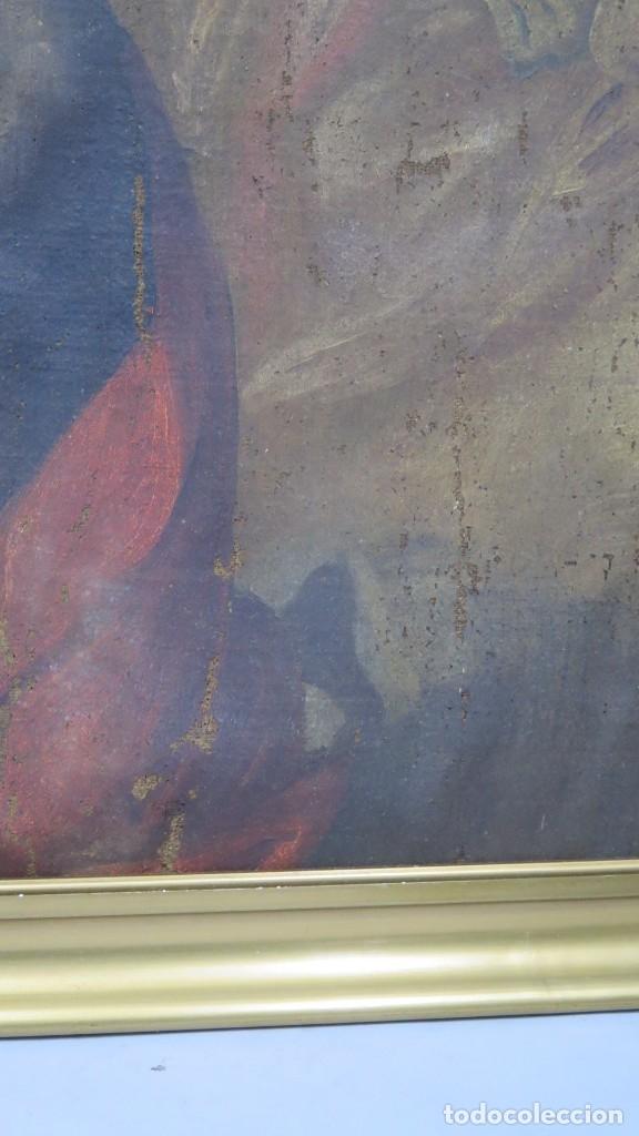 Arte: JESUS ORA EN EL HUERTO DE GETSEMANI. OLEO S/ LIENZO. SIGLO XVII - Foto 5 - 182535392