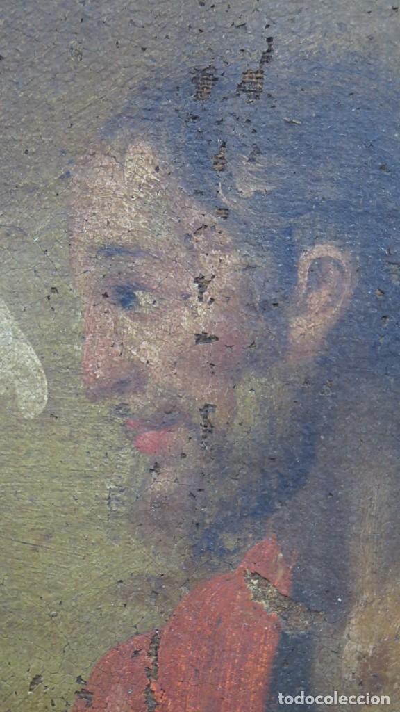 Arte: JESUS ORA EN EL HUERTO DE GETSEMANI. OLEO S/ LIENZO. SIGLO XVII - Foto 6 - 182535392