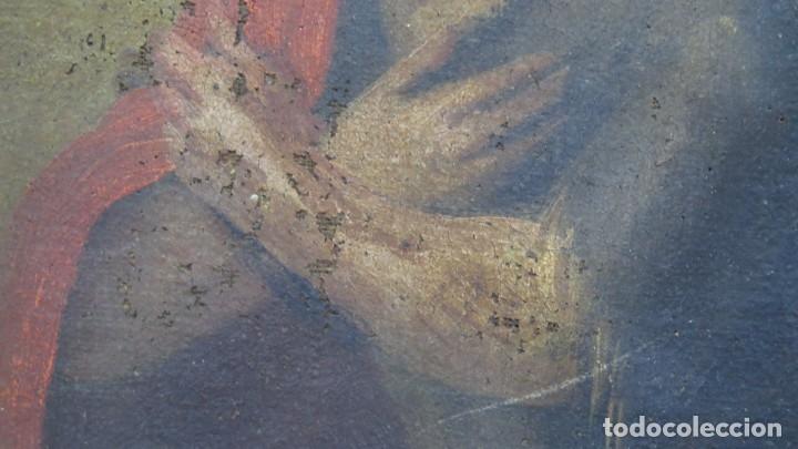 Arte: JESUS ORA EN EL HUERTO DE GETSEMANI. OLEO S/ LIENZO. SIGLO XVII - Foto 8 - 182535392