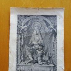Arte: Nª Sª DE LA FUENCISLA, ESPECIAL PATRONA DE LA CIUDAD DE SEGOVIA.1816. VTE.LOPEZ DIB. FCO.JORDAN GRAV. Lote 182575185