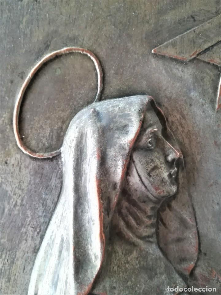 Arte: GRABADO METALICO EN RELIEVE,SIGLO XIX,SANTA TERESA DE JESUS O AVILA,OBRA DE ARTE,MISTICA RELIGIOSA - Foto 5 - 182609927