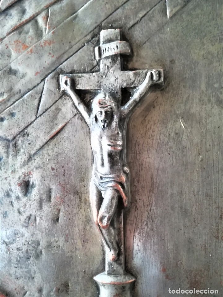 Arte: GRABADO METALICO EN RELIEVE,SIGLO XIX,SANTA TERESA DE JESUS O AVILA,OBRA DE ARTE,MISTICA RELIGIOSA - Foto 6 - 182609927