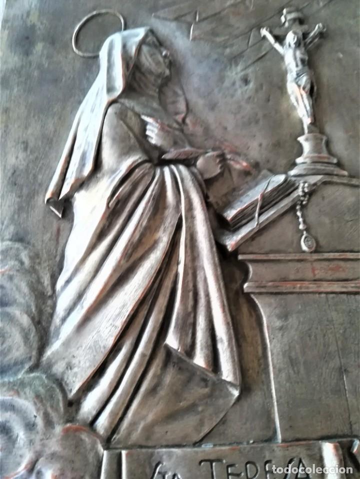 Arte: GRABADO METALICO EN RELIEVE,SIGLO XIX,SANTA TERESA DE JESUS O AVILA,OBRA DE ARTE,MISTICA RELIGIOSA - Foto 16 - 182609927