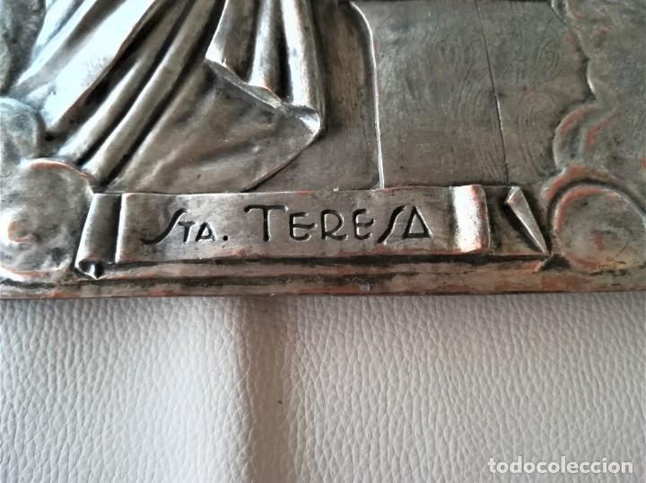 Arte: GRABADO METALICO EN RELIEVE,SIGLO XIX,SANTA TERESA DE JESUS O AVILA,OBRA DE ARTE,MISTICA RELIGIOSA - Foto 7 - 182609927