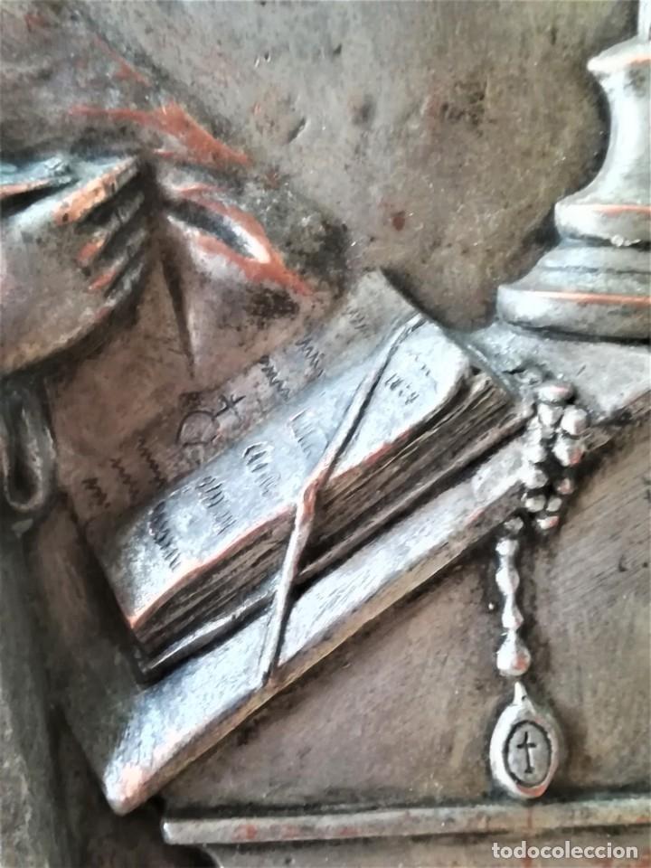 Arte: GRABADO METALICO EN RELIEVE,SIGLO XIX,SANTA TERESA DE JESUS O AVILA,OBRA DE ARTE,MISTICA RELIGIOSA - Foto 9 - 182609927