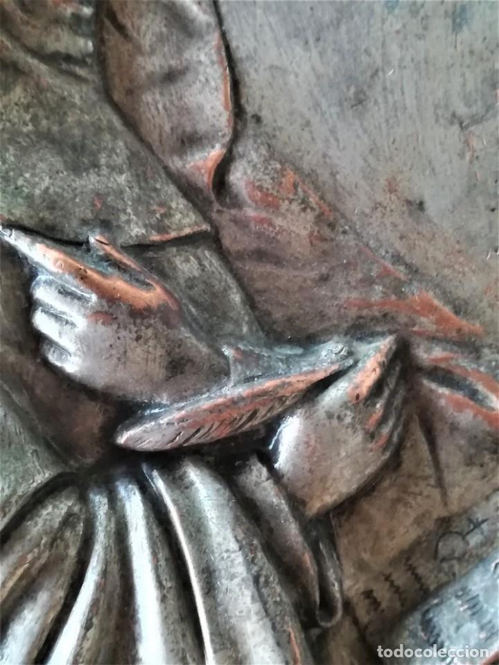 Arte: GRABADO METALICO EN RELIEVE,SIGLO XIX,SANTA TERESA DE JESUS O AVILA,OBRA DE ARTE,MISTICA RELIGIOSA - Foto 10 - 182609927