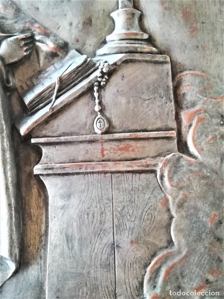 Arte: GRABADO METALICO EN RELIEVE,SIGLO XIX,SANTA TERESA DE JESUS O AVILA,OBRA DE ARTE,MISTICA RELIGIOSA - Foto 3 - 182609927
