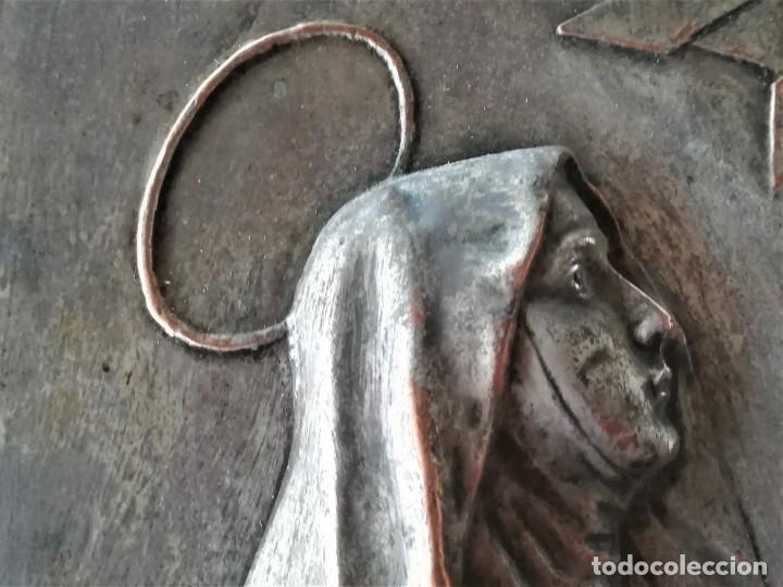 Arte: GRABADO METALICO EN RELIEVE,SIGLO XIX,SANTA TERESA DE JESUS O AVILA,OBRA DE ARTE,MISTICA RELIGIOSA - Foto 13 - 182609927