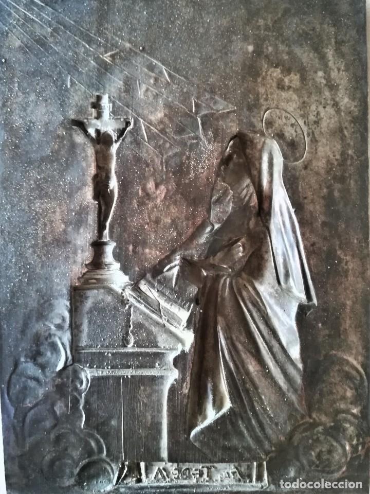 Arte: GRABADO METALICO EN RELIEVE,SIGLO XIX,SANTA TERESA DE JESUS O AVILA,OBRA DE ARTE,MISTICA RELIGIOSA - Foto 17 - 182609927