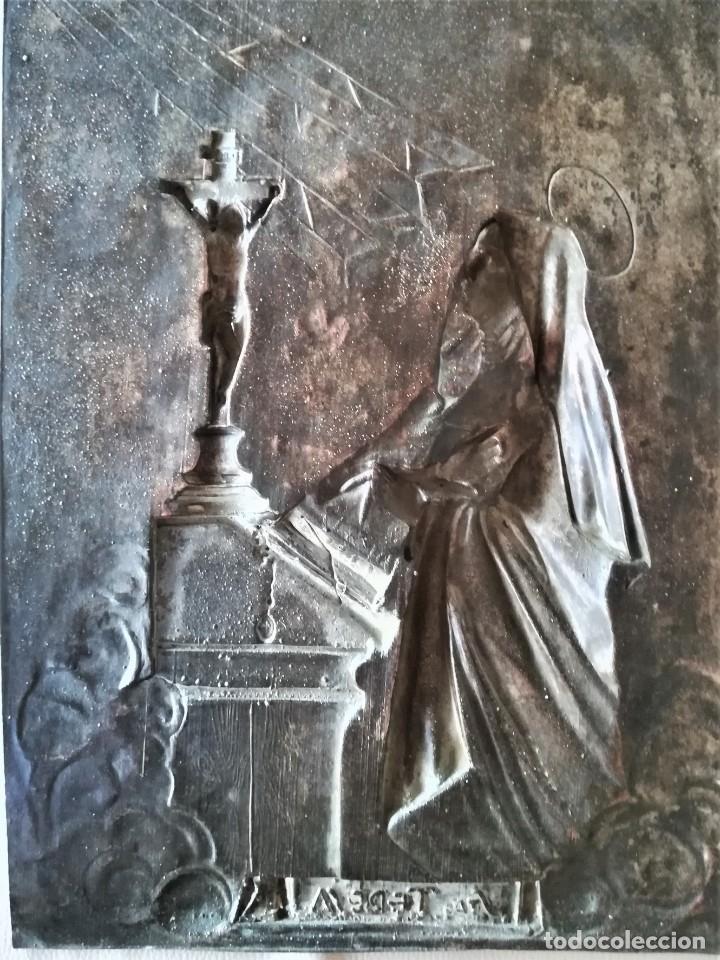 Arte: GRABADO METALICO EN RELIEVE,SIGLO XIX,SANTA TERESA DE JESUS O AVILA,OBRA DE ARTE,MISTICA RELIGIOSA - Foto 18 - 182609927