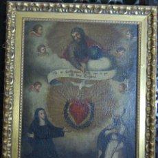 Arte: EXVOTO CON EL SAGRADO CORAZÓN DE JESUS. Lote 182612918
