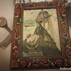 Arte: ANTIGUA PINTURA SOBRE CARTÓN DE LA VIRGEN DE LAS ANGUSTIAS MIREN FOTOS. Lote 182644020