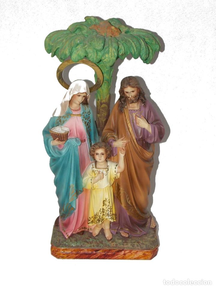 ESCULTURA OLOT DIMOSA FIGURA VIRGEN MARIA NIÑO JESUS AÑOS 60 (Arte - Arte Religioso - Escultura)