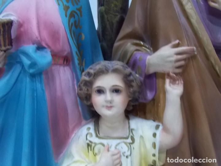Arte: ESCULTURA OLOT DIMOSA FIGURA VIRGEN MARIA NIÑO JESUS AÑOS 60 - Foto 3 - 182653782