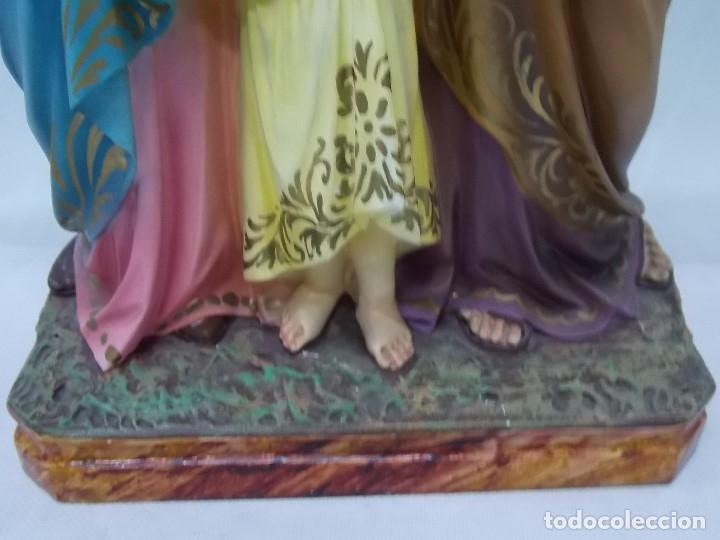 Arte: ESCULTURA OLOT DIMOSA FIGURA VIRGEN MARIA NIÑO JESUS AÑOS 60 - Foto 4 - 182653782