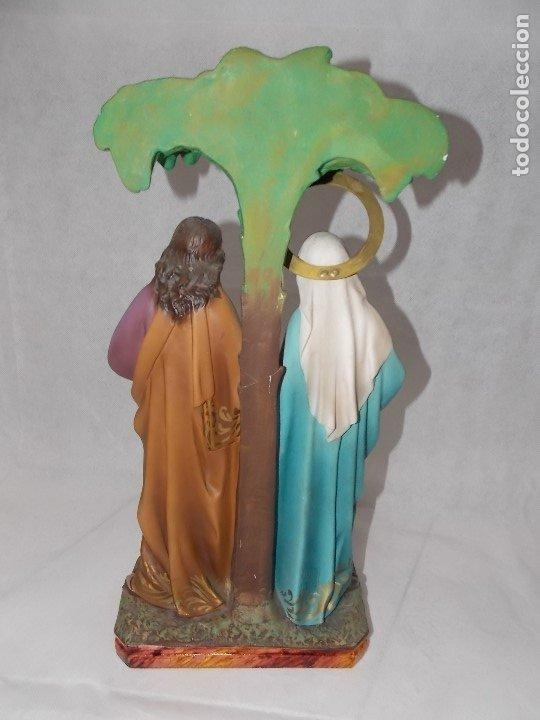 Arte: ESCULTURA OLOT DIMOSA FIGURA VIRGEN MARIA NIÑO JESUS AÑOS 60 - Foto 5 - 182653782