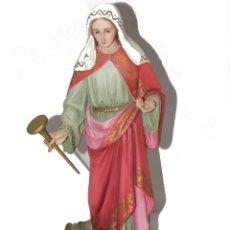 Arte: ESCULTURA OLOT DIMOSA FIGURA SANTA LUCIA AÑOS 60. Lote 182660170