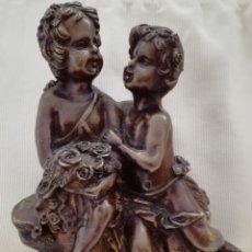 Arte: FIGURA QUERUBINES BRONCE.. Lote 182701711