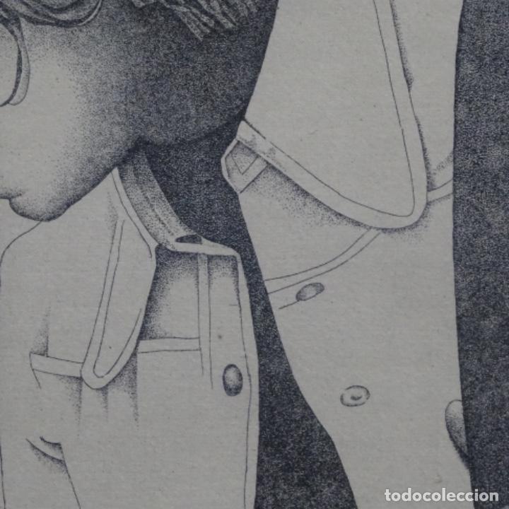 """Arte: Grabado aguafuerte de rudolf häsler.serie """"ramblas 73-75"""".bien enmarcado.36/100 - Foto 7 - 182730121"""